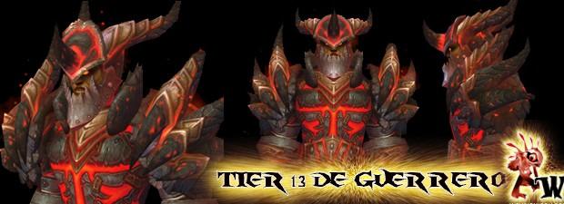 Hoy Blizzard nos ha revelado cómo será el Tier 13 de Guerrero:  Quizá muchos pensaban que con la transfiguración no habría nuevo Tier pero aquí lotenéis!  Se llamaColossal Dragonplate (Placa de...